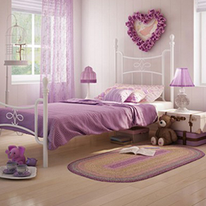 double cupped bed set