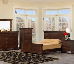 Bedroom Set Dark Wood
